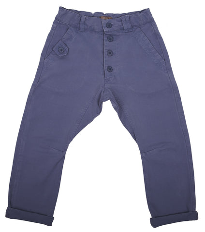 Emile et Ida Smart Button Jeans Trousers - Blue