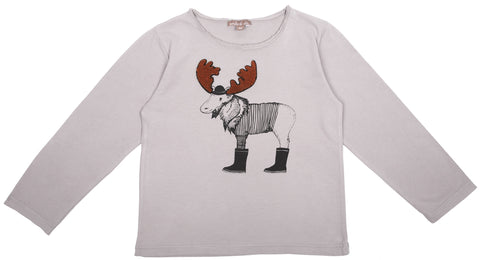 Emile et Ida Moose T-shirt - Grey