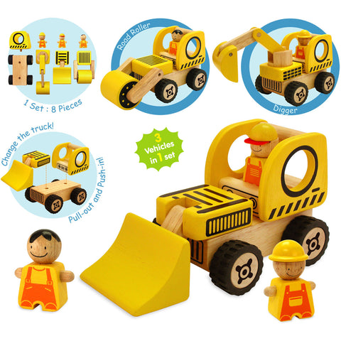 I Am Toy Road Vehicles Play Set