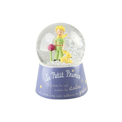 The Little Prince with the Fox Musical Snow Globe