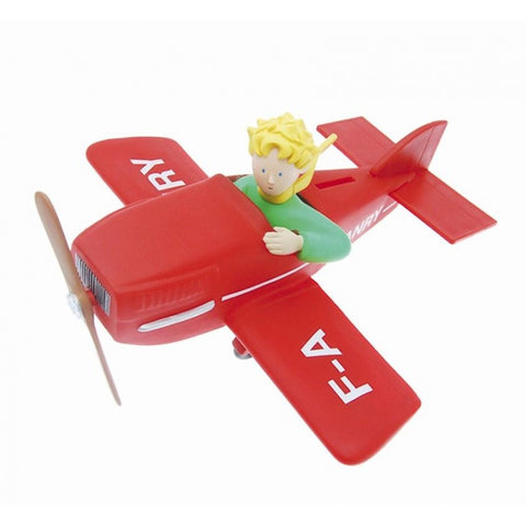 The Little Prince on his Plane Money Box