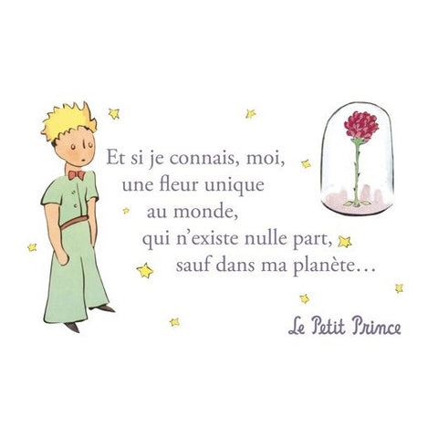 The Little Prince Postcard - Rose 1