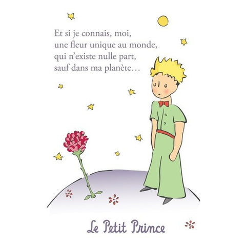 The Little Prince Postcard - Rose 2