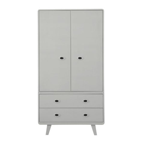 Laurette Armoire Toi & Moi Wardrobe Grey (Pre-Order; Est. Delivery in 3-4 Months)