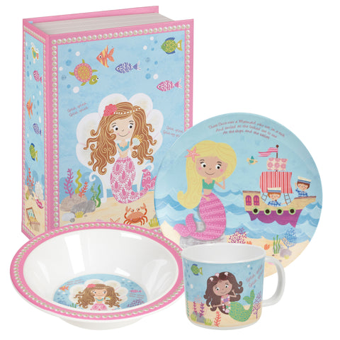 Churchill Little Rhymes Mermaid 3 Piece Melamine Set