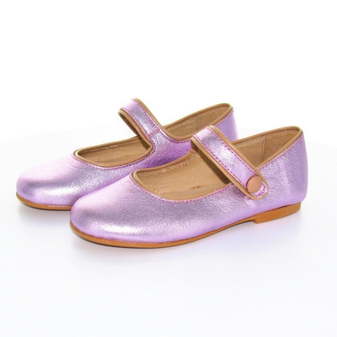 Manuela de Juan Robine Mary-Janes Shoes - Shiny Pink