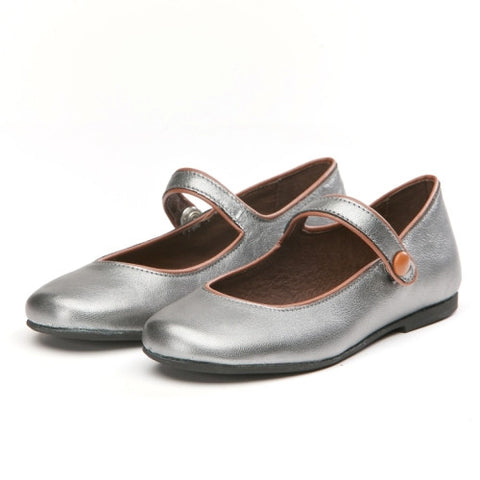 Manuela de Juan Robine Mary-Janes Shoes - Silver