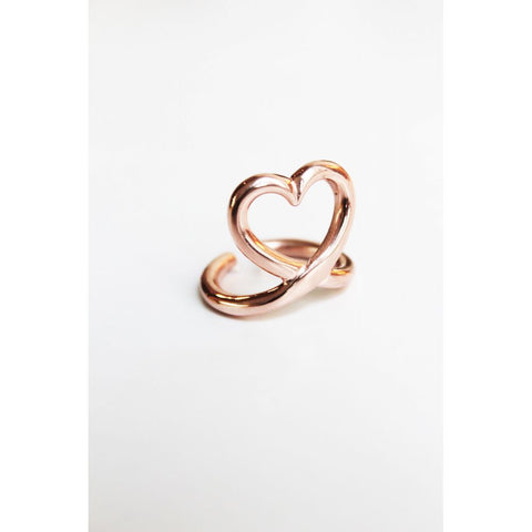 Mimilamour Mon Coeur Adjustable Rosegold Ring