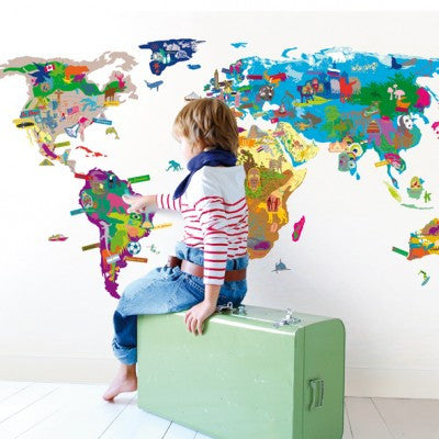 Mimi'lou Worldmap Wallsticker