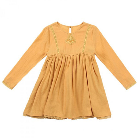 Louise Misha Dentelle Dress - Mustard