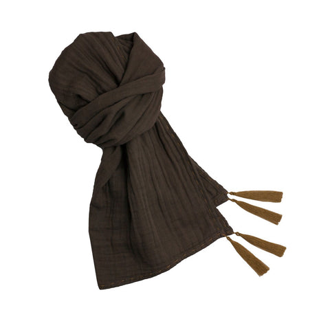 Numero 74 Taupe Woman Scarf