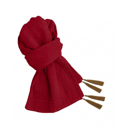 Numero 74 Ruby Red Woman Scarf