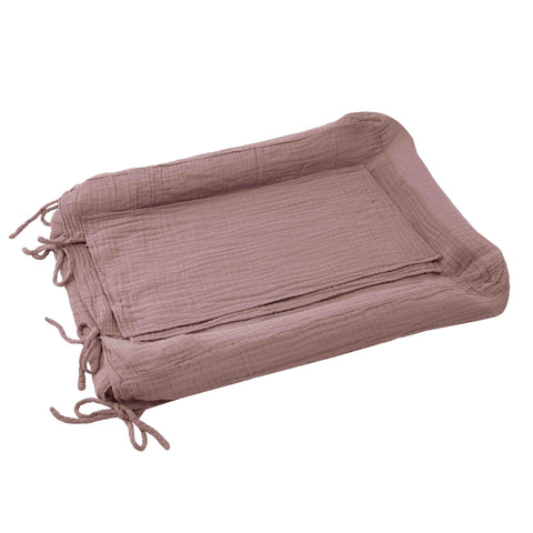 Numero 74 Square Changing Pad Cover - Dusty Pink