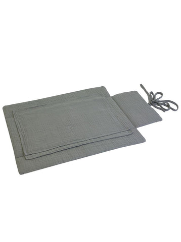 Numero 74 Travel Changing Pad - Silver Grey