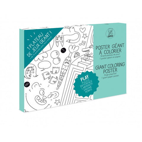 OMY Giant Coloring Poster - Play