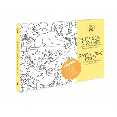 OMY Giant Coloring Poster - Pyramid