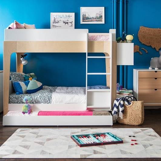 Oeuf Perch Trundle Bed With Vertical Ladder Petit Bazaar
