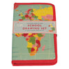 Rex Vintage World Map Drawing Set