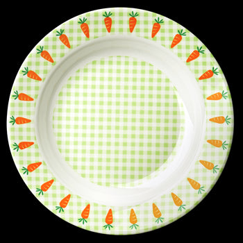 Rice DK Gingham and Carrot Bowl