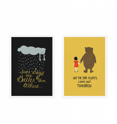 Rifle Paper Co Better Days Art Print - Set of 2