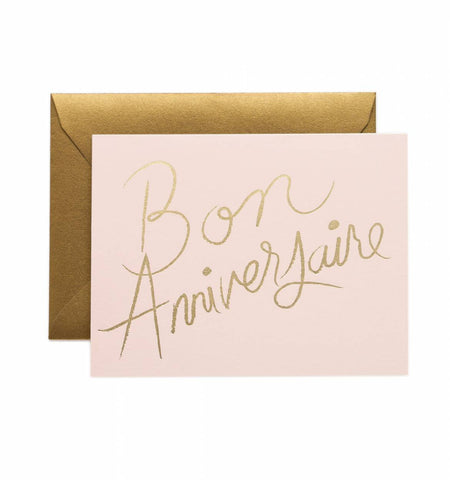 Rifle Paper Co French Happy Birthday Card