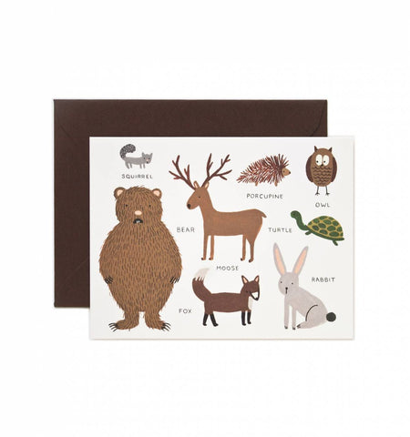 Rifle Paper Co Animal Chart Card