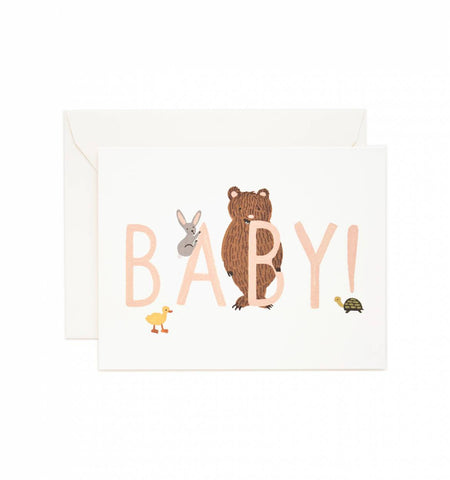 Rifle Paper Co Baby! Card - Peach