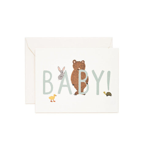 Rifle Paper Co Baby! Card - Mint