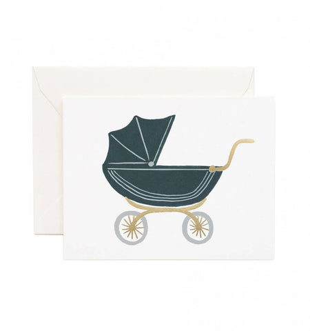 Rifle Paper Co Pram Baby Card