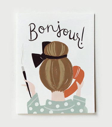 Rifle Paper Co Bonjour Card