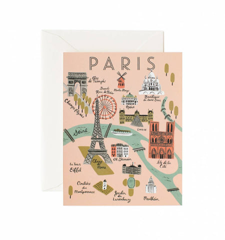 Rifle Paper Co Paris Map Card