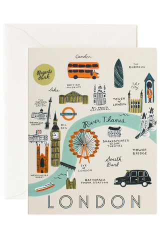 Rifle Paper Co London Map Card