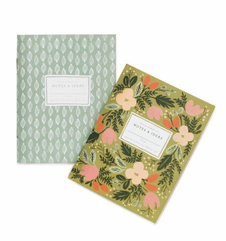 Rifle Paper Co 2 Moss Garden Pocket Notebook Set