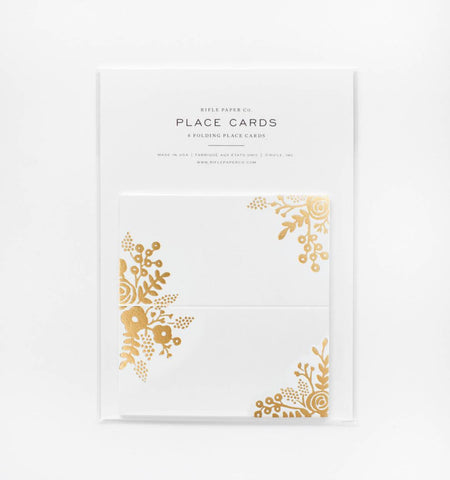 Rifle Paper Co 8 Gold Lace Place Cards