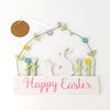 RJB Stone Spring Bunny Happy Easter Hanging Plaque