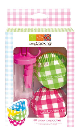 ScrapCooking Cupcake Cases & Pastries Syringe Kit