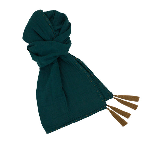 Numero 74 Teal Blue Woman Scarf