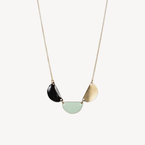 Titlee Gowanus Necklace - Black/Wasabi