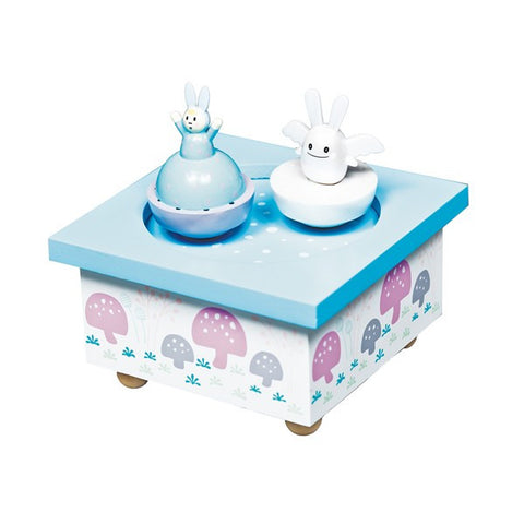 Trousselier Angel Bunny Musical Wooden Box - Blue