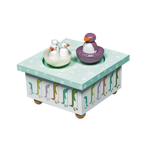 Trousselier Penguin Musical Wooden Box