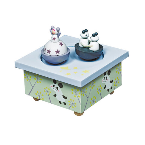 Trousselier Girl & Panda Musical Wooden Box