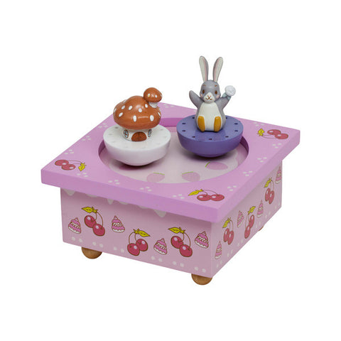 Trousselier Lapingouin Bunny Musical Wooden Box
