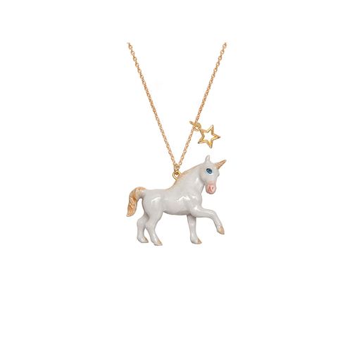 A Mini Penny Unicorn Necklace