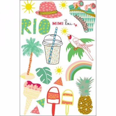 Mimi'lou Rio Multicolor Washable Tattoo