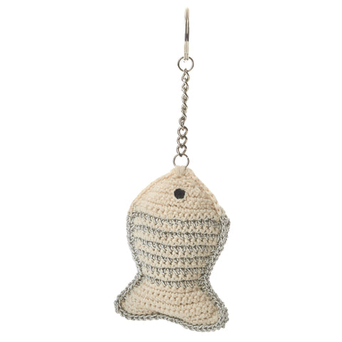 Anne-Claire Petit Fish Keyholder Crochet and Lurex New