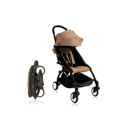 Babyzen YOYO+ 6+ Baby Stroller - Black Frame with Taupe 6+ Color Pack