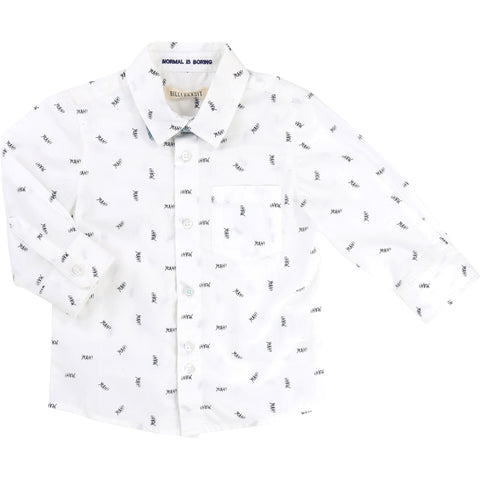 Billybandit Cotton Poplin Shirt with Fancy Print