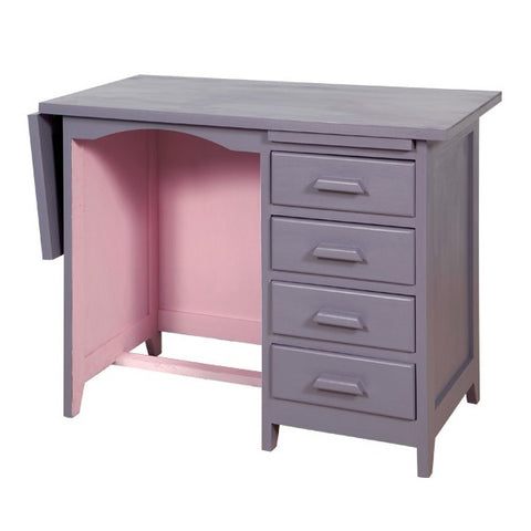 Laurette Bureau de Comptable Accountant Desk Purple / Rose