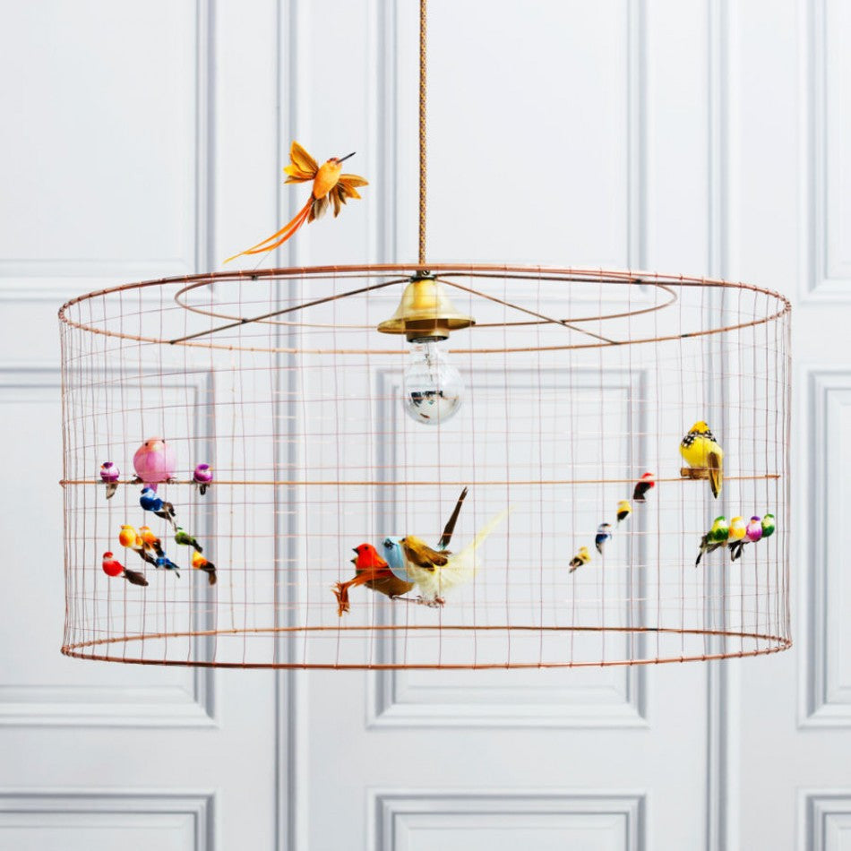 chal birdcage lamp lights voliere decor challi petit products voli re res cage bazaar bird demi challieres suspension