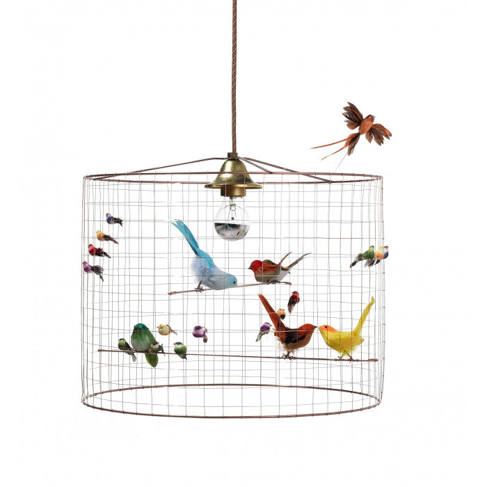 challi res small voli re bird cage suspension lamp petit bazaar. Black Bedroom Furniture Sets. Home Design Ideas